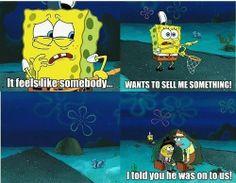 Funny SpongeBob SquarePants & Patrick Star l love this ♥