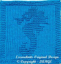 Knitting Cloth Pattern LARGE SEAHORSE PDF by ezcareknits