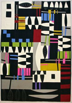 Jitterbug by Karen Farmer, Quilt ART Love the use of negative space on this!