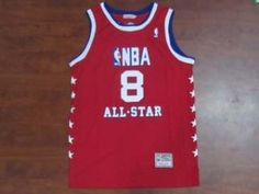 5f8f12d1cd8e 2003 All-Star LA Lakers  8 Kobe Bryant Red Classic Basketball Jersey  F96