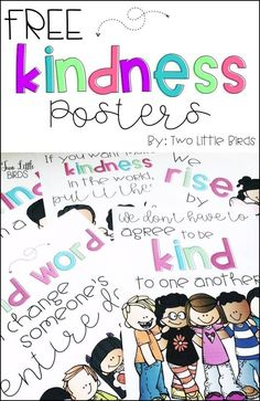 FREE set of five posters to promote kindness in your classroom!