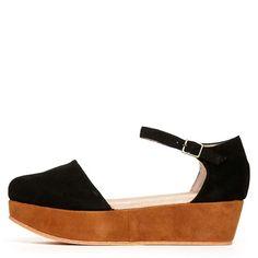 I want this shoe...Gee Wa Wa 'Daphne' Platform Sandal,Black-Rust at ashburyskies.com