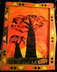 The baobab broccoli - The tour of my ideas - Pre-school Bethany Ford Jungle Art Projects, Africa Craft, African Art Projects, Le Baobab, Classe D'art, January Art, Afrique Art, Leaf Art, Tree Crafts
