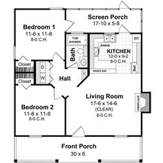 2 Bedroom House Plans With Porches – Home Ideas Decor