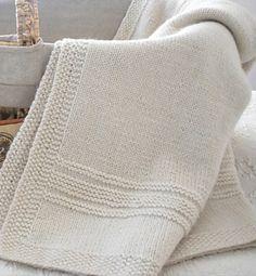 Ravelry: Finest Kind Baby Blanket pattern by Michele Rose Orne - Best Knitting Pattern Knitting For Kids, Baby Knitting Patterns, Baby Patterns, Knitting Yarn, Knitting Projects, Crochet Patterns, Knitted Afghans, Knitted Baby Blankets, Easy Knit Blanket