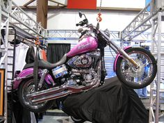 Pink Harley Davidson Motorcycle | Vancouver Motorcycle Show 2010 » Harely Davidson Pink metal fake