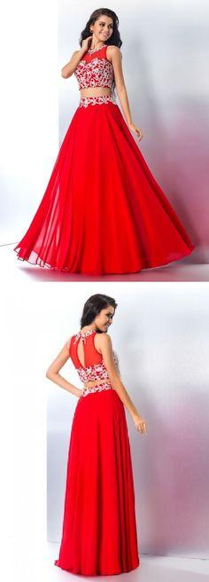 lace long red chiffon junior homecoming dress