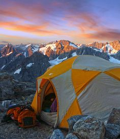"""Sahale Glacier Camp, Washington  OMG!! This link has """"the 20 best places to go camping before you die"""" and they are AMAZING!"""