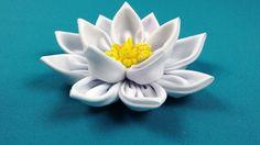 Lotus Kanzashi/Loto kanzashi/Лотос канзаши. МК по запросу.