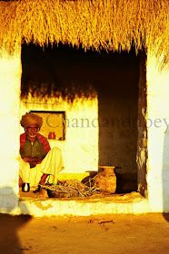 A little away from the city enclosed within the honey coloured walls of the Jaiselmer fort, Rajasthan, . Mud Hut, Concrete Structure, Mexican Artists, Honey Colour, Village Houses, Countries Of The World, Wall Colors, Designs To Draw, India