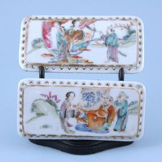 Pair of Chinese Porcelain Plaques or Panels. (c. 1850 China)