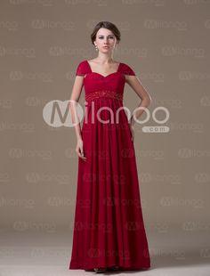 Blue Fashion Chiffon Floor-length Maternity Bridesmaid Dress - Milanoo.com