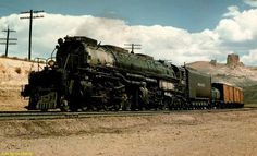 Union Pacific #4017 in Green River, WY. ca. 1957 (Courtesy of R.H.Kindig).