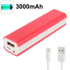 Batterie portable externe universelle USB iPhone 5 3000mAh Rouge - www.yonis-shop.com