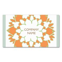 Orange Lotus Business Card. Make your own business card with this great design. All you need is to add your info to this template. Click the image to try it out!
