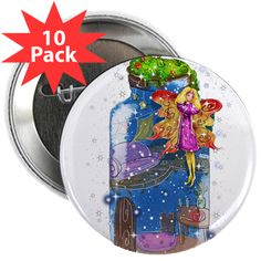"2.25"" Button (10 Pack) www.teeliesfairygarden.com Wear and share a favorite design or saying with 10 of your closest friends. #fairybutton"