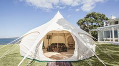 One of the hottest items at festivals this year worldwide is an epic new design of tent.  The Lotus Belle boutique tent…