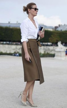 Work Chic In Paris. Classy Work Outfits, Dress Summer, White Shirts, Work Skirts, Buy Now, Cotton, Fall Fashion, Stuff To Buy, Classic