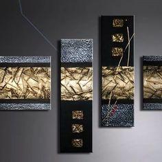 Neybers - An Interior Design Playground Diy Canvas Art, Diy Wall Art, Diy Art, Gold Leaf Art, Gold Art, Acrylic Pouring Art, Acrylic Art, Texture Painting, Texture Art