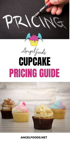 Cupcake pricing guides - Free help on where to start! Angel Food Cupcakes, Mini Cupcakes, Cake Business, Business Advice, Online Business, Cupcake Prices, Pastry Cook, Cake Templates, Cake Pricing