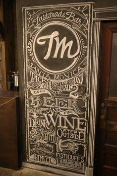 "my chalkboard for ""the bar"" set @ tastemade studios, santa monica..."