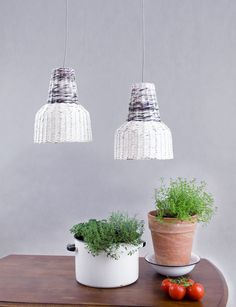 Small industrial lamp Pendant lamp Eco lofts by BarborkaDesign