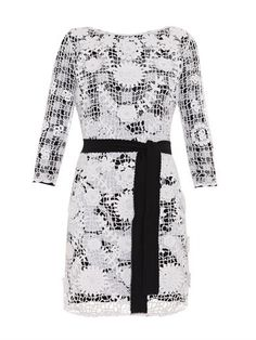 Kennie silk-blend crochet dress | Diane Von Furstenberg | MATC...