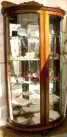 Half-Round Oak China Cabinet & Quartersawn Oak Half Round China Cabinet | Furniture | Pinterest ...