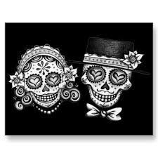 Image result for sugar skull couple tattoo