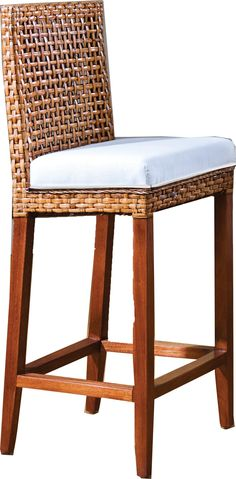 Hospitality Rattan Indoor Rattan & Wicker Bar Stool by OJ Commerce 610-6204-NAT - $956.99