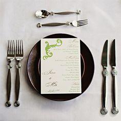 menu cards OR JUST DO BUFFET
