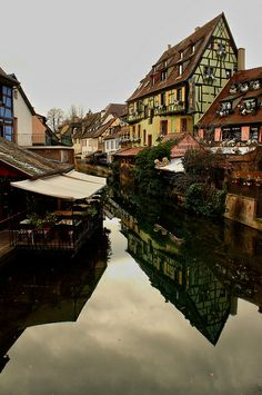 Colmar ~ is a stunningly beautiful and well preserved village in northeastern France. When you visit, allow plenty time to stroll the beautiful streets w many shops.