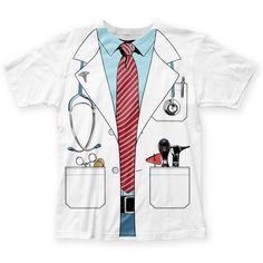 Impact Originals Men's White Doctor Costume T-shirt M