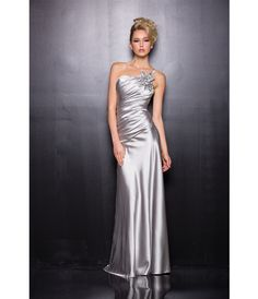2014 Prom Dresses - Silver Poly Satin One Shoulder Prom Dress (34337-NA2818) van NariAna2013 - This is a great prom dres...Price - $112.00-FcyDbHaG