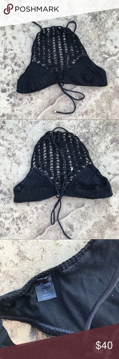 Lovers + Friends Crochet High Neck Bikini Top Black crochet high neck bralette or Bikini Top - your choice! Excellent condition with no flaws! No padding. Style Wanderlust Lovers + Friends Intimates & Sleepwear Bras