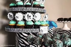 Zebra done right if your having a baby shower and it's a boy!