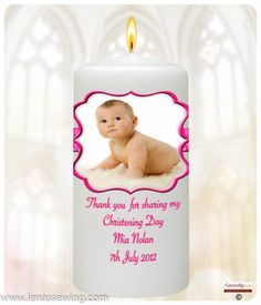 inch Christening Favour: * Each favour comes personalised with baby's name, Thank you message and Date of Christening Christening Favors, Thank You Messages, Personalized Candles, Baby Names, Special Day, Kid Names, Baptism Favors