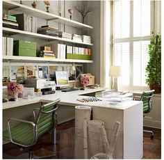 You won't mind getting work done with a home office like one of these. See these 20 inspiring photos for the best decorating and office design ideas for your home office, office furniture, home office ideas Ikea Office, Home Office Space, Office Workspace, Home Office Decor, Office Furniture, Office Ideas, Desk Space, Organized Office, Office Spaces