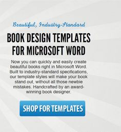 home page of the site for book design templates from the book designer use the software you already own and know to create beautiful industry standard