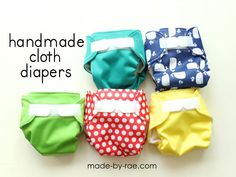 Sewing for baby: Cloth Diapers - Made By Rae // Rohhh, ces PULs sont adorables!!!