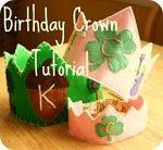 Birthday Crown Tutorial, so cute