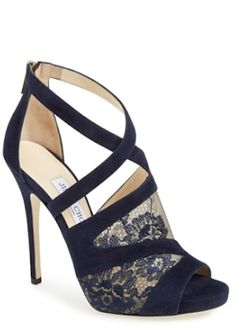 beautiful strappy lace and suede sandals http://rstyle.me/n/qj565r9te