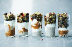 Chia Parfait and Apple Crunch