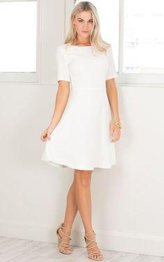 fc95f13ddae Showpo Taken Over dress in white - 14 (XL) Longer Dresses White Work Dresses