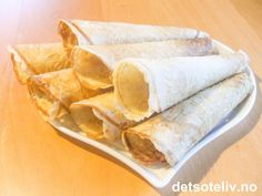 Fløtekrumkaker | Det søte liv Snack Recipes, Tacos, Chips, Baking, Ethnic Recipes, Food, Snack Mix Recipes, Bread Making, Appetizer Recipes