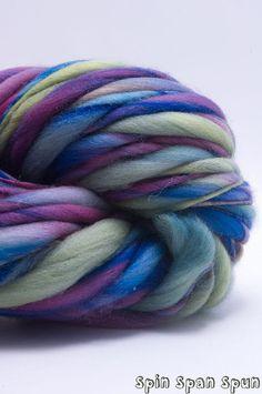 Paysage Thick and Thin Bulky Yarn HandSpun Organic by SpinSpanSpun,