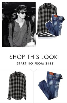 """""""- calum"""" by chillputa ❤ liked on Polyvore featuring Vans"""