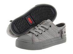Levi's® Kids Zip Ex Lo Canvas (Infant/Toddler) Charcoal Mono - Zappos.com Free Shipping BOTH Ways