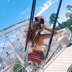 Old pic from Disney ❤️✨ So I tried filming a outfits video last week but I'm not really feelin it I will still try uploading it? Orr not? haha idk + thanks Priscilla for taking this awesome pic with your phone because mine had no more storage #Disneyland : @priscillax103