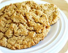 """""""This simple recipe only requires almond butter, apple sauce, baking soda, and I used coconut sugar. We couldn't stop eating them! Foods Without Sugar, No Sugar Foods, Low Sugar, Protein Bar Recipes, Healthy Eating Recipes, Protein Bars, Healthy Foods, Coconut Sugar Recipes, Sugar Free Recipes"""